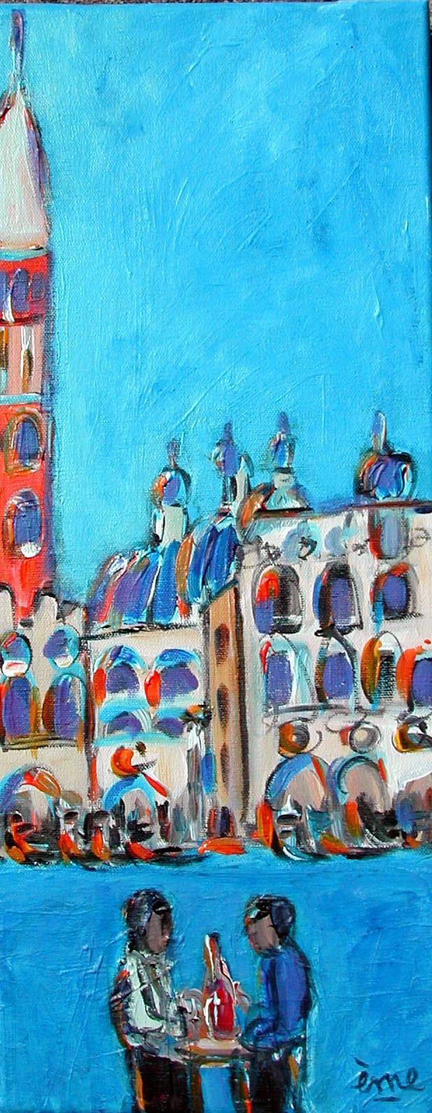 Venise 2. Acrylique sur toile. 20x50. dans ACTUALITES Venise-2-20x50