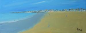 Rêve de plage. 20x50. Acrylique sur toile. dans ACTUALITES reve-de-plage-50x20-300x117