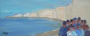Gens des grandes falaises 2. Acrylique 20x50. dans ACTUALITES gens-des-grandes-falaises-2-300x120