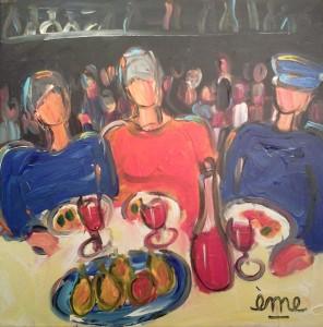 Avec les copines. Acrylique sur toile 40x40. dans ACTUALITES 2013-11-17-17.55.34-13-296x300