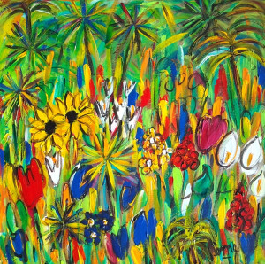 Jungle riante 40x40