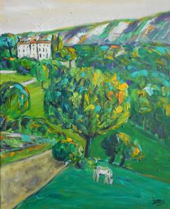 Vauvenargues 46x38 acrylique toile