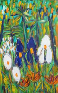 Jardin en reve 29x39 acrylique papier